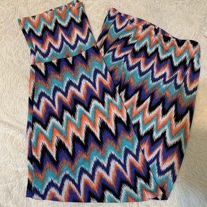 Chevron-Striped Maxi Skirt